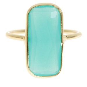 🎁NWT: Cinnabar Gold & Amazonite Ring